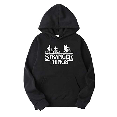 VERROL Sudadera Stranger Things Mujer Hombre, Stranger Things Bicicleta Sudadera, Unisexo Stranger Things Pullover de Forro De Terciopelo