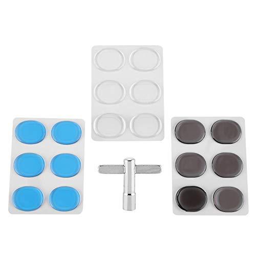 Dilwe Trommel Dämpfer-Pads, Drum Damper-Gel-Pads Transparente Silikon-Silicon-Schlagzeug-Schalldämpfer-Set und Zubehör für Drum-Keys