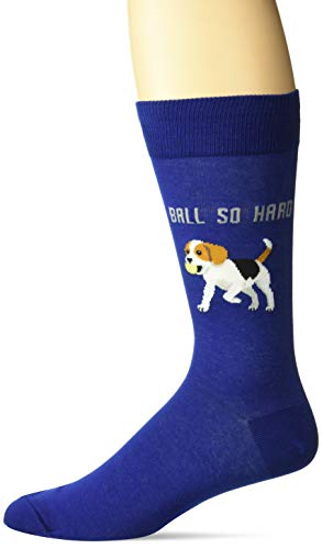 Hot Sox - Calcetines casuales para hombre, Bola de piedra dura (azul oscuro), Shoe Size: 6-12