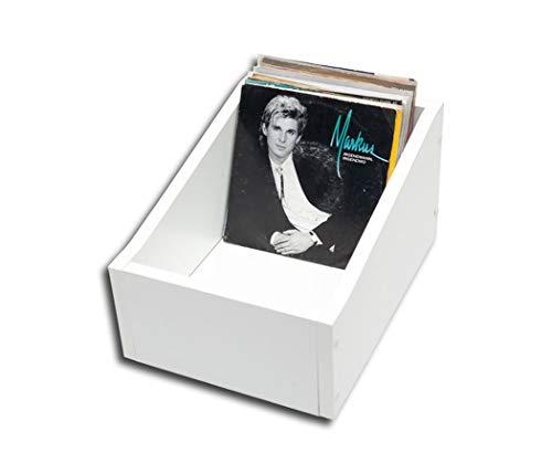 Single Schallplatten Holzbox weiß Protected (2.Wahl)
