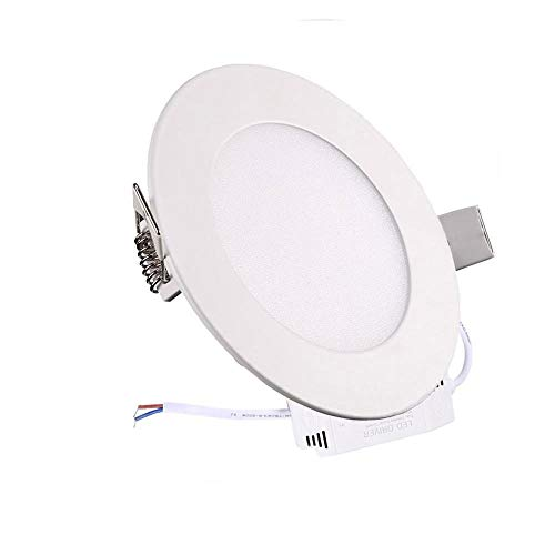 XUNATA Dimmable 18W 8 inch Ultra-Thin Round LED Panel Light, 1600lm, 140W Incandescent Equivalent, 6500K Daylight White, LED Ceiling Recessed Lighting for Home, Office, Commercial Lighting