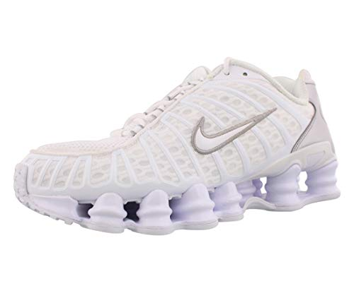 Nike Shox TL, Zapatillas de Atletismo Hombre, Multicolor (White/White/Metallic Silver/MAX Orange 000), 41 EU