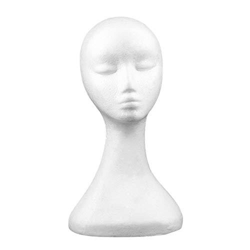 Ba30DEllylelly Type Long Femmes Femme Mannequin tête modèle Bulle Perruque Chapeau Lunettes Affichage de Bijoux tête de Mannequin sans Oreilles