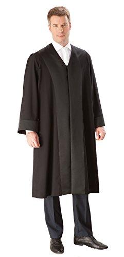 die Robe – Schwarze Einsteiger/Anwaltsrobe für Herren aus 100% Polyester – Größe L (48/50)