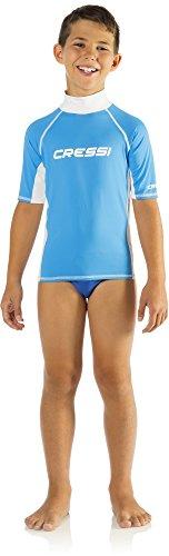 Cressi LW476902, Camiseta Para Niños, Azul, XL/5 (talla del fabricante:12-13 años)