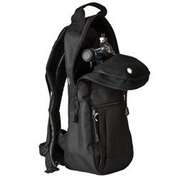 Cylinder Carrying Bags, Black, Backpack Style with Padded Nylon Fabric