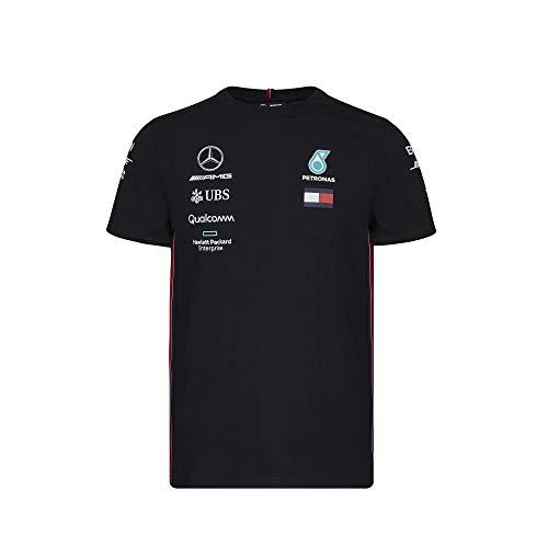 Official Formula One Merchandise | Männer | Offizielle Mercedes-AMG Petronas Motorsport 2019 F1™ | Team T-Shirt | Schwarz | Baumwolle und Elestan | Größe: L