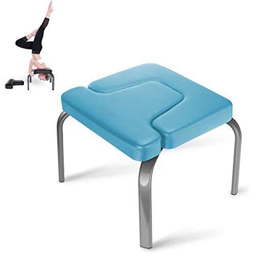 Yoga Headstand Taburete Equipo De Inversión De Entrenamiento De Fuerza Fitness Y Gimnasio En Casa Silla Invertida Adultos Principiantes Práctica Head Stand Shoulderstand Aliviar La Fatiga(Color:azul)
