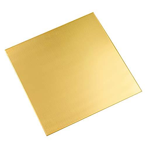 LOKIH Messing Platte,H62 Messingplatte,DIY Metallverarbeitende Industrie Versorgung 100mm x 100mm Dicke: 3mm