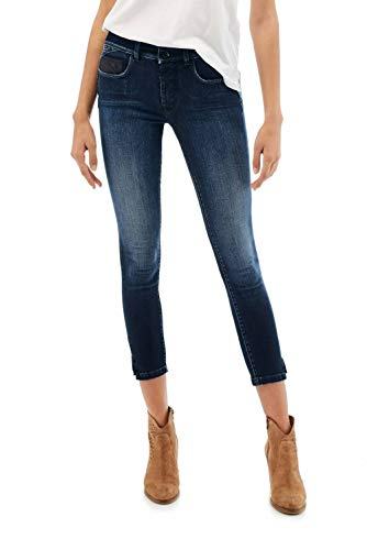 Salsa Secret Capri Jeans met Studs Blauw