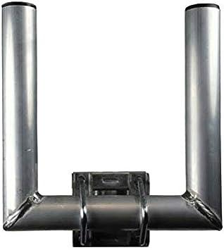 PremiumX - Pluma de mástil doble de 25 cm Ø 35 mm Soporte de pared duo doble mástil satelital boom Soporte en U para una antena adicional - Aluminio