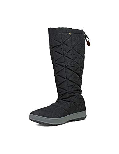 BOGS Women's Snowday Tall Waterproof Insulated Winter Snow Boot, Black, 7