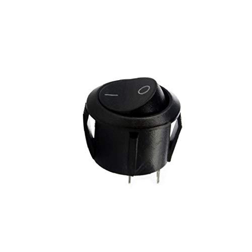TOPofly Kleine Schwarze runde Rocker-Aus-Schalter I/O Tiny Mini DC SPST Rund für Convenience