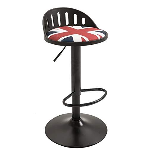 BAR STOOL WGZ - Silla de barra de elevación giratoria, taburete alto, taburete negro (color: C)