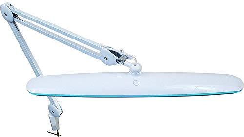 Komerci KML-9503 18W LED Arbeitsleuchte Arbeitslampe Lampe dimmbar und Lichttemperatur wählbar, flexibler Gelenkarm, weiß