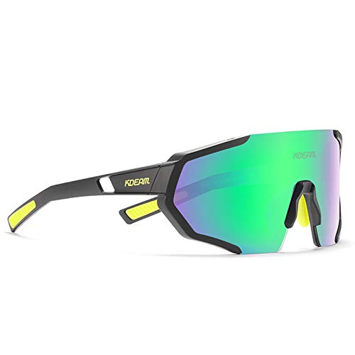 Gafas de Ciclismo de Montaña Unisex, Gafas de Sol Polarizadas con Protección UV400, Aptas para Cualquier Tipo de Rostro,04