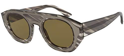 GIORGIO ARMANI Occhiali da sole AR8135 582073 occhiali Uomo colore Grigio lente marrone taglia 47 mm