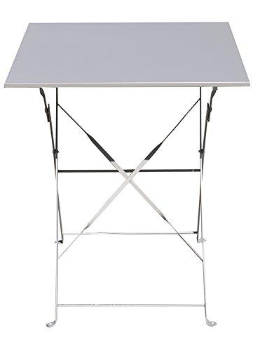 60 x 60 x 75 cm PEGANE Table Pliante Bordeaux