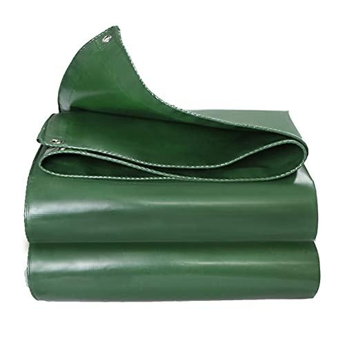 Gymqian Tarps Verde Pesado Impermeable Paño Al Aire Libre Sombra de Lona Portátil 4,8 × 5.8M Espesar/Green / 2.8×2.8m
