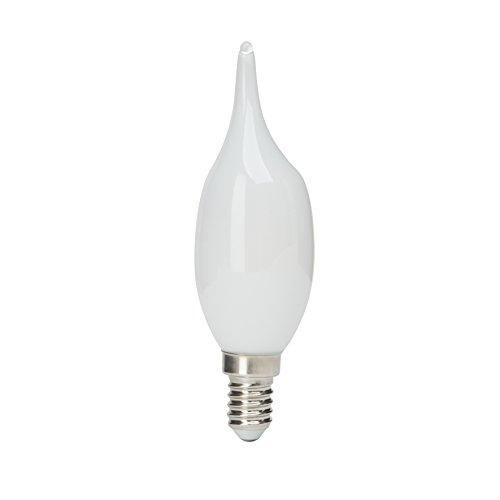 Brilliant 96686A05a + +, Candle Blast LED Bombilla, E14, 2,5W, 250lm, 2700K, metal, Blanco cálido