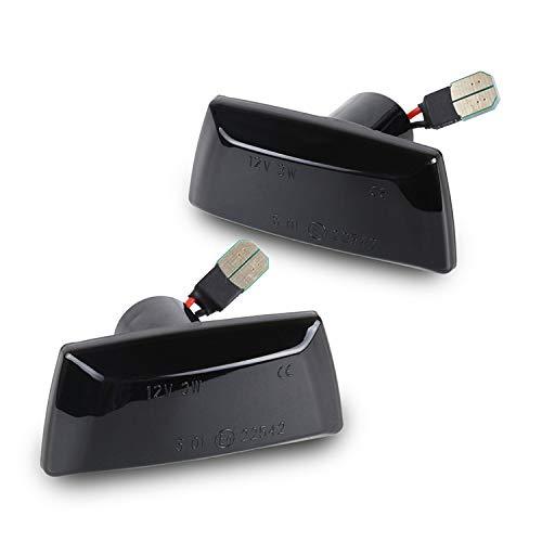 LED SEITENBLINKER schwarz kompatibel für Adam Astra H J GTC Corsa D E