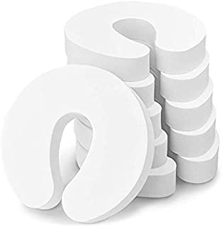 Kool Products (6 PCS Retail Pack) Finger Pinch Guard Door Stopper Baby Proofing Doors Durable Foam Door Stopper Child Safety Prevents Finger Pinch, Kids and Pets from Getting Locked (White)