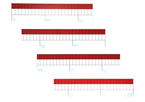 WISSNER aktiv lernen - Zahlenstrahl Rechenband Universal 0-100 - RE-Plastic°