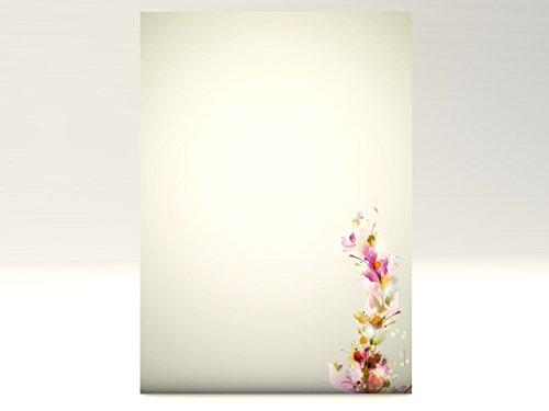 Color parte con flores diseño papel Colours, 100hojas de papel de carta DIN A4, 90g/m²