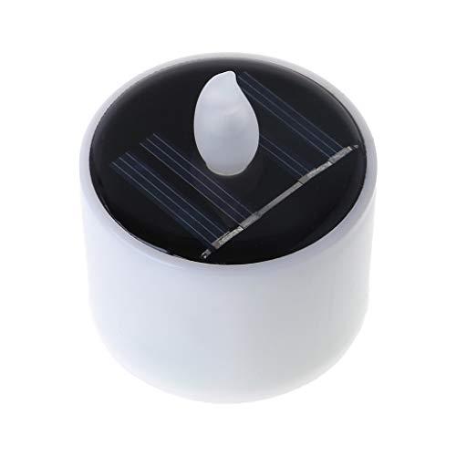 Exing Bougies chauffe-plat à LED - Fonctionne à l'énergie solaire - Bougies LED sans flamme - Décoration de Noël