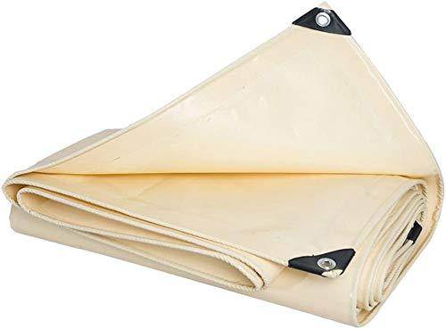 YUEDAI Lona Lona Tierra Sheet Covers Carpa Toldo Espesar PVC Revestimiento de protección Solar a Prueba de Lluvia Reforzado, múltiples tamaños, 600G / M² (Color : Beige, Size : 2x1.5m)