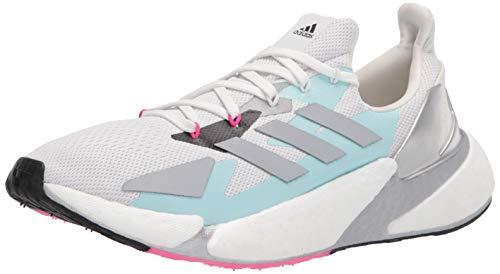 adidas womens X9000L4,Crystal White/Silver,8.5 M US