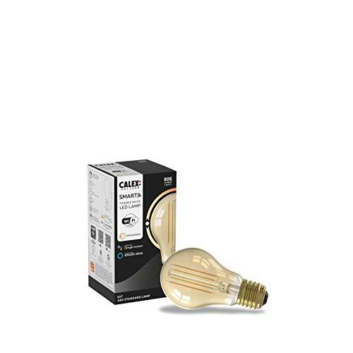 Calex Smart Home - Bombilla LED dorada GLS A60 E27 220-240V 7W 806lm 1800-3000K