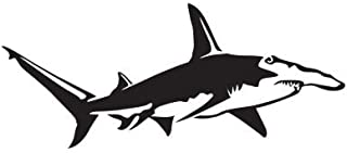 Express Yourself Products Great Hammerhead Shark (Black - Image Facing as Shown - Medium) Decal Sticker - Saltwater Fish Collection