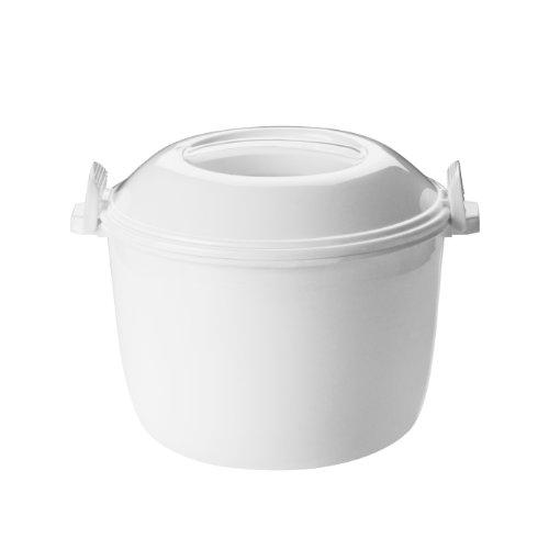Premier Housewares Mikrowellen-Kochgeschirrset, 3-teilig, Weiß, PP-Polypropylen, 19x21x16