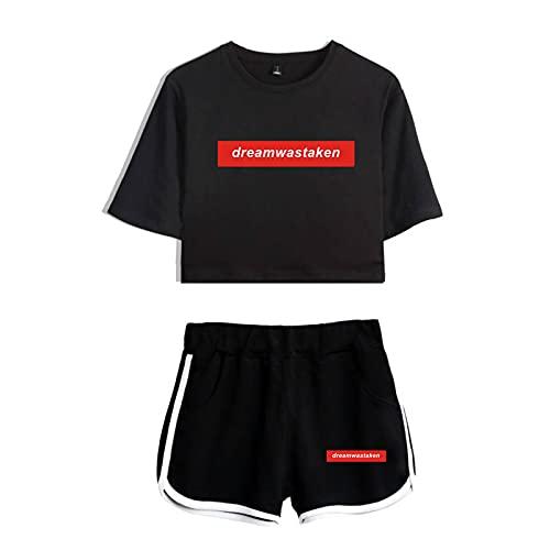 CNSTORE Dreamwastake Cosplay Crop Top y pantalones cortos de manga corta Dream Team Sportswear conjunto de dos piezas