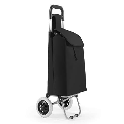 DREAMADE Multifunktionaler Einkaufstrolley, Einkaufswagen Einkaufsroller Klappbar, Marktroller Einkaufstasche auf Rollen, Kaufwagen mit große Kapazität (Klassik)