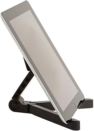 Tec-Digi Adjustable Tablet Holder Stand - Compatible with Apple iPad, Samsung Galaxy and Kindle Fire Tablets