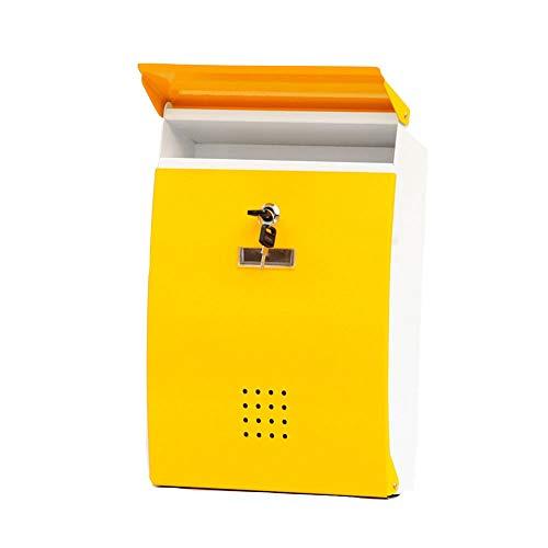 YDZS Großraum-Briefkasten Aus Eisen, Umweltfreundlicher Lackierprozess, Wasserdichter Großraum-Briefkasten, Mit Sicherheitsschloss, Zeitungspost