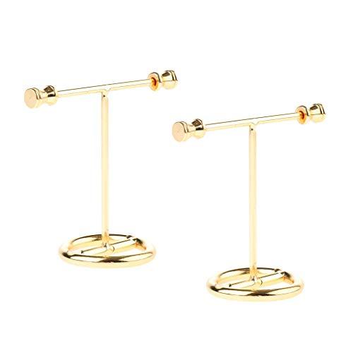 Soporte de exhibición del tenedor del organizador de la joyería del estante del pendiente del oro tamaño pequeño