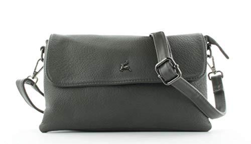 Prato Abendtasche Clutch Damen Handtasche, 25,5 x 17 x 5,5 cm - Grau