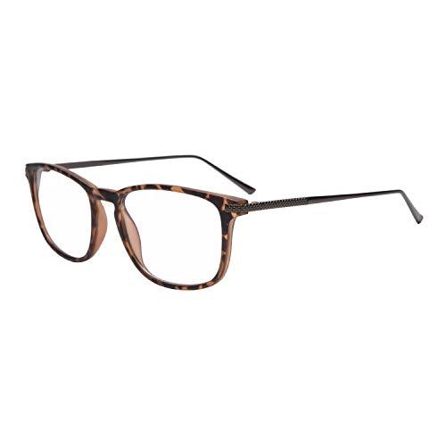 Madison Avenue Blue Light Glasses, Metal Temple Anti Eyestrain & UV Protection Computer Eyeglasses Men Women (Tortoise)