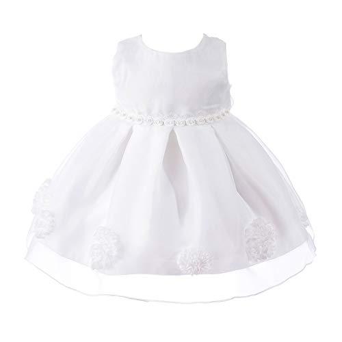 Zhhlinyuan Bébé Filles Mariage Fête Baptême Ébouriffer Robe Tutu - Vêtements de Bébé Fleur Bowknot Robes