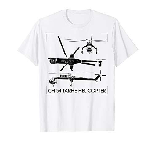 CH-54 Tarhe Helicopter Tshirt Gift S-64 Skycrane Tee