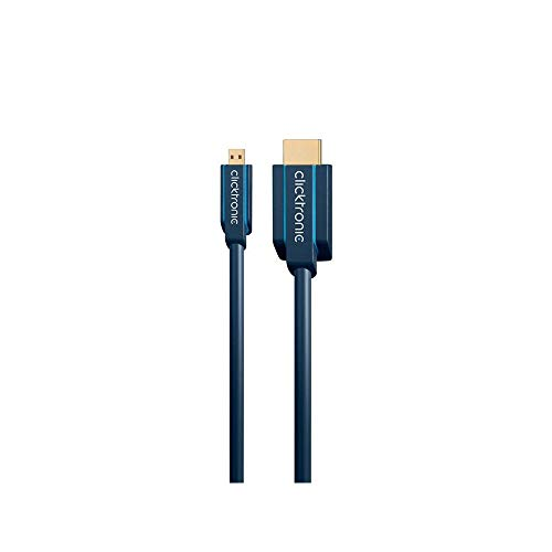 Clicktronic Casual Micro-HDMI Adapterkabel mit Ethernet, 4K Ultra HD, 3D-TV, ARC, 1m