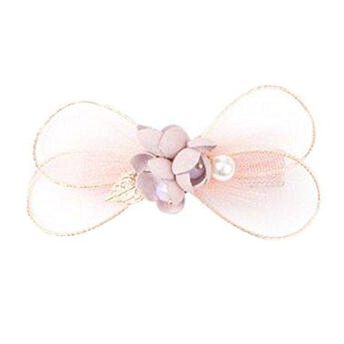 Mesdames Elegant bow-noeud Forme cheveux pinces Accessoires cheveux, Rose
