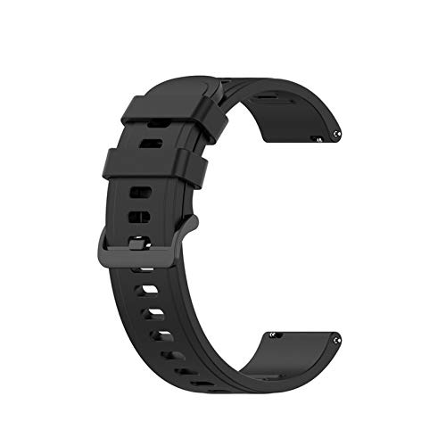 GZMYDF Sport Silicone Band 20mm 22mm para Amazfit GTR 42mm 47mm GTS para Samsung Galaxy Watch Active2 S2 S3 para Huawei GT Wamkand Strap Correa (Band Color : Black, Band Width : 22mm for GTR 47mm)