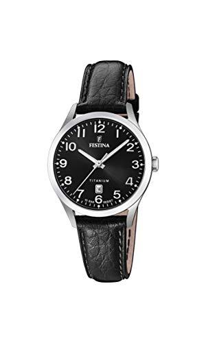 Festina Damen Analog Quarz Uhr mit Leder Armband F20469/3