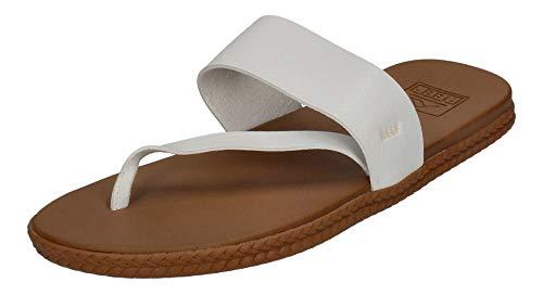 Reef Women's Sandals, Cushion Sol, White/Snake, 8