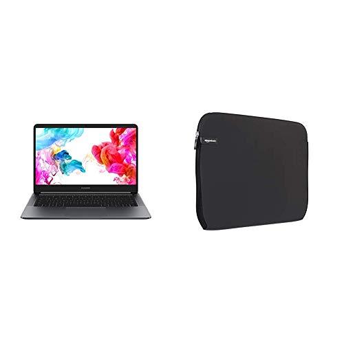 "Huawei Matebook D, Processore Intel Core i5-8250U, RAM 8 GB DDR3, SSD 256 GB, Display 14"" Full HD & AmazonBasics - Sleeve per Laptop / MacBook Air / MacBook Pro / MacBook Pro con display Retina"