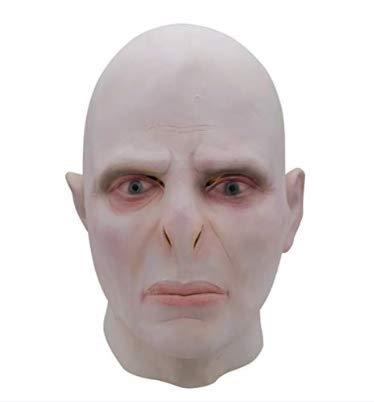Voldemort Mask Máscara De Látex, Cabeza Completa Halloween Horror Scary Mask, Deluxe Latex Voldemort Mask Cosplay Face Helmet Disfraz De Fiesta De Halloween